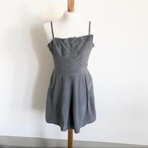 Walter Silk Gray Cocktail Dress Size 6